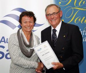 Janet Jerword at the WA Sailing Awards